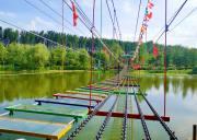 水上拓展-爱情百步桥,铁索桥,空中自行车,惊险刺激,抖音爆火。